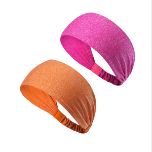 NEW Produce Women Men Color Sport Sweat Hair Band Yoga Stretchy Sweatbands Headbands