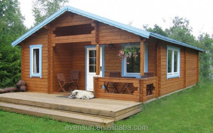 Holiday resort style leisure prfabricated wooden bungalow