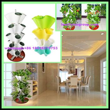 Stackable Garden Planter Flower Pot   Indoor / Outdoor 4 Grow Pots