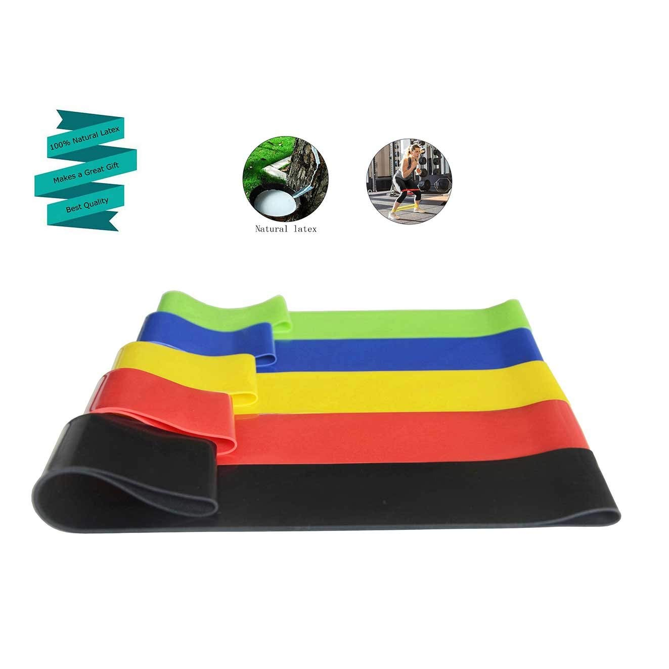 asveryook resistance bands for legs and butt, resistance loops,workout bandsfor Home Fitness, Stretching, Physical Therapy, natural latex mini bands for exercise