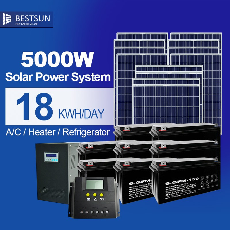BESTSUN Grid kit solar / solar energy 5000W solar powersystem solar panel price 5000W solar for home <strong>electricity</strong>