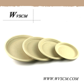 Various Sizes Wheat Straw Fiber Disposable Compostable ... |Wheat Paper Plates