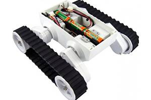 Angelelec DIY Open Sources Tank, Rover 5 Tank Chassis (4 Motors With 4 Encoders), A New Breed Of Tracked Robot Chassis Designed Specifically for Students and Hobbyist, Each Gearbox Has An 87:1 Ratio