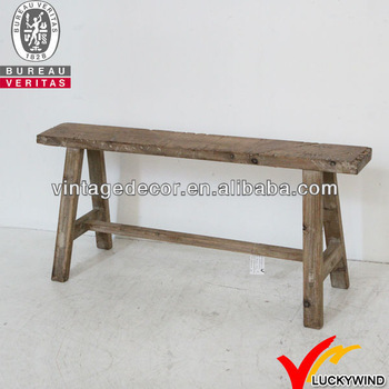 Handmade Natural Rustic Long Old Wooden Bench