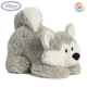 D468 White Gray Siberian Husky Wolf Stuffed Animal Plush Toy Fluffy Soft Husky Plush Wolf Toys