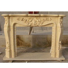 Popular Design Hand Carved italian stone fireplaces mantel