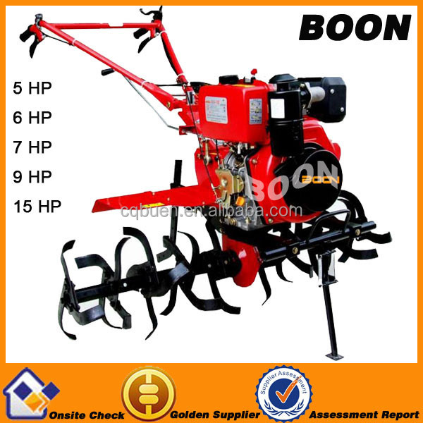 9 HP diesel power farm cultivator rotary tiller