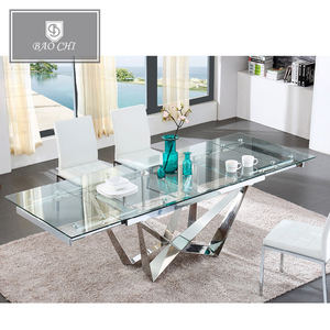 Promotion latest living room Rectangle modern design luxury dining table