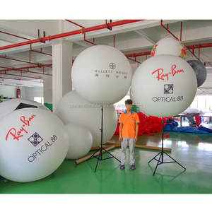 Advertising inflatable stand lighted balloon with stainless steel tripod