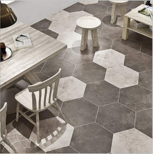 3d hexagon rustic ceramic pub or public places floor tile 250x600mm