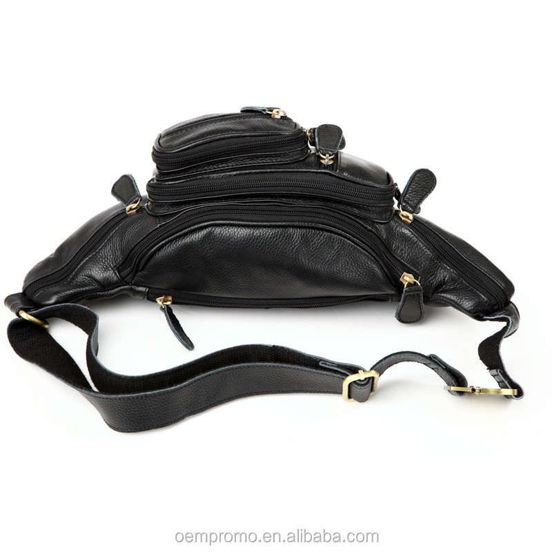 Promotional Fashion Embossed Leather Fanny Pack Belt Bags