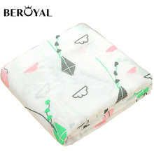Beroyal breathable Double layers 100% muslin cotton baby swaddle blanket