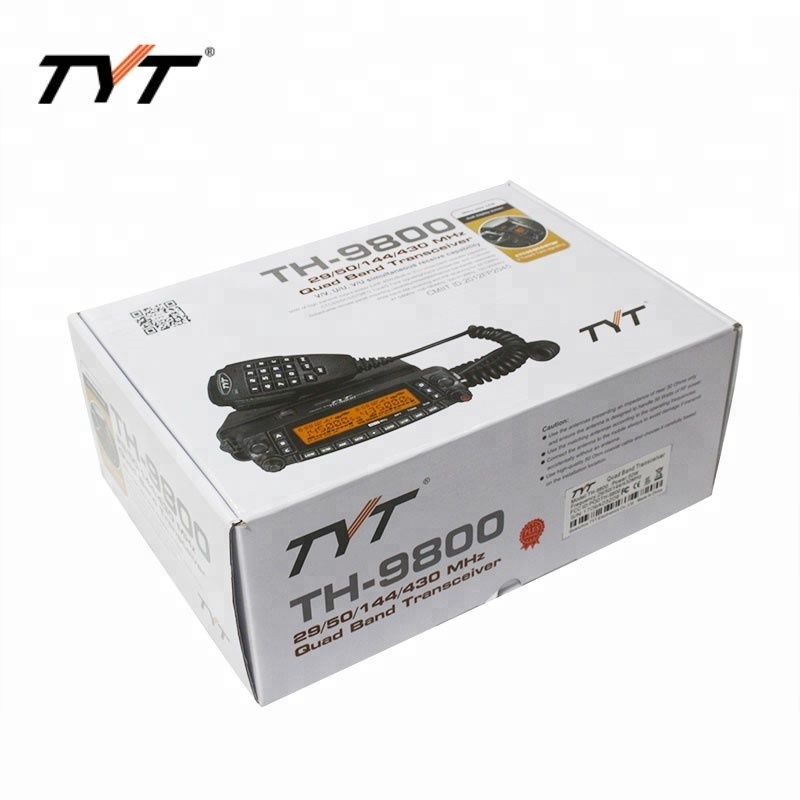 TYT TH-9800 como Yaesu FT8900 29/50/144 / 430Mhz FM Quad banda walkie talkie quad band rádio móvel walkie talkie100 milhas