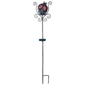 hot sell light ladybug shape metal decorative garden stakes