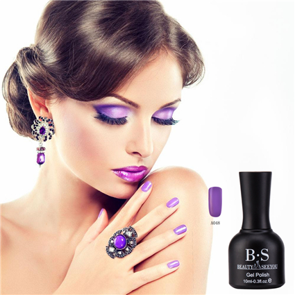 Manufacturer made USA wholesale products purple color organic gel nail polish UV gel