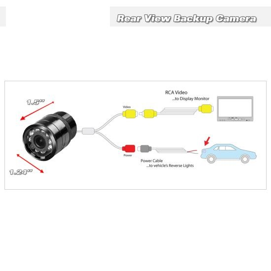 Universal Car rearview Camera with night vision,model :CAM101