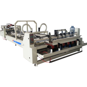 Corrugated paperboard folding gluing and counting machine with corrugated carton box gluing machine price