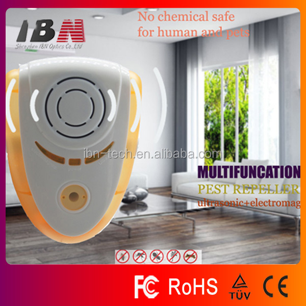 IN-198 Plug-in Indoor Electromagnetic Ultrasonic Pest Repeller, hot-selling Mice Rats spiders bugs fleas dispeller