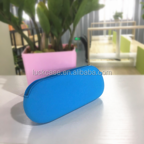 Good Price Hot Sale Silicone Rubber Pencil Case, Large Zipper Storage bag, Silicone Cosmetic Bag