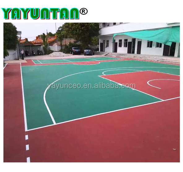 Synthetic Outdoor Basketball Court Flooring Raw Material