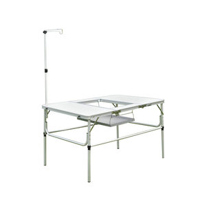 Adjustable height korea BBQ table camping aluminum folding table