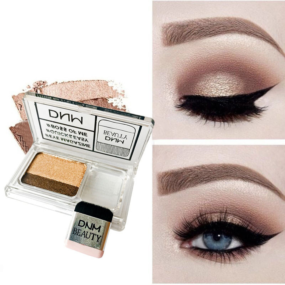 Popular Brand Two-tone Lazy Eye Shadow Shimmer Lasting Natural Make Up Seal Eye Shadow Gradient Pearl Eye Shadow With Brush Tslm1 Beauty Essentials