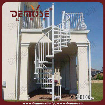 Used exterior spiral metal commercial stairs buy for Aluminum spiral staircase prices