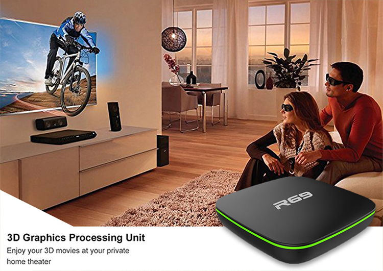 Hot R69 Android 7.1 Quad Core Smart TV Box WIFI USB H.265 4K Movies Media Player