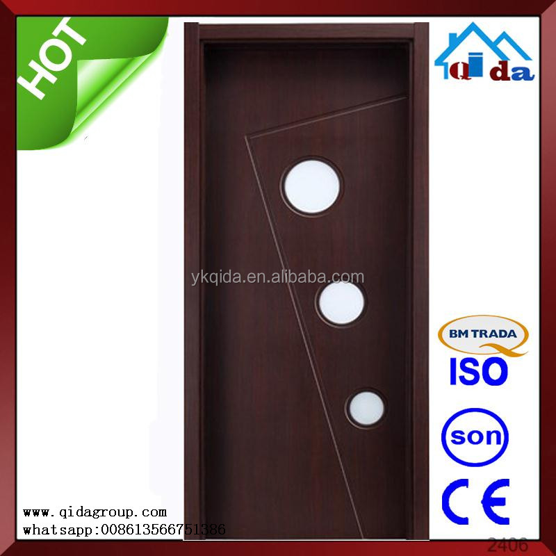 Wooden Hospital pvc bathroom door design