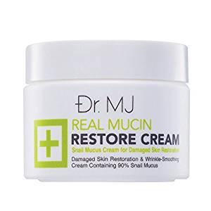Dr. Mj Real Mucin Restore Snail Secretion Cream for Damage Skin Restoration.[free Handmade Envelopes Gift]
