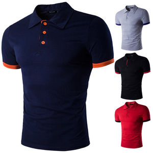 Blank pattern gold china supplier oem short sleeve custom logo polo t shirts men