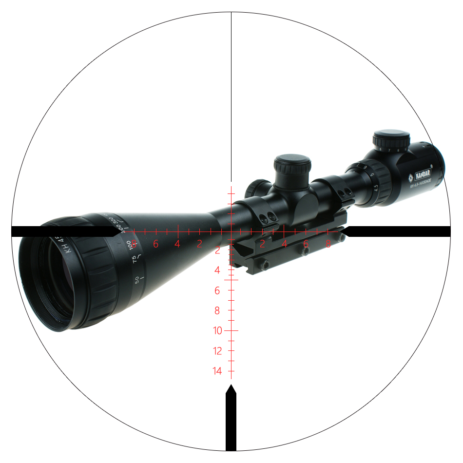 Military US.Army Riflescope Tacctical Weapon 4-12x42 Mil-Dot Scope With Mount Hunting Airsoft Gun Sight For Sale, Black/camouflage
