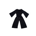 New arrival clothing solid colors baby long sleeves classical velvet jumpsuit kid clothing