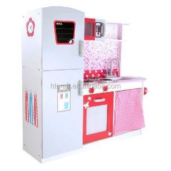113*100*32 Cm Refrigerador Y Armarios Cocina De Juguete De Madera ...