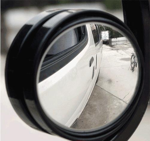 2 шт. маленький круглый зеркало для автомобиля слепые пятна зеркала широкоугольным объективом с регулируемым дополнительного бесплатная доставка