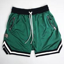 Брендовые мужские шорты для бодибилдинга, быстросохнущие пляжные шорты для бега, спортивные штаны до колена, летние мужские спортивные шор...(Китай)