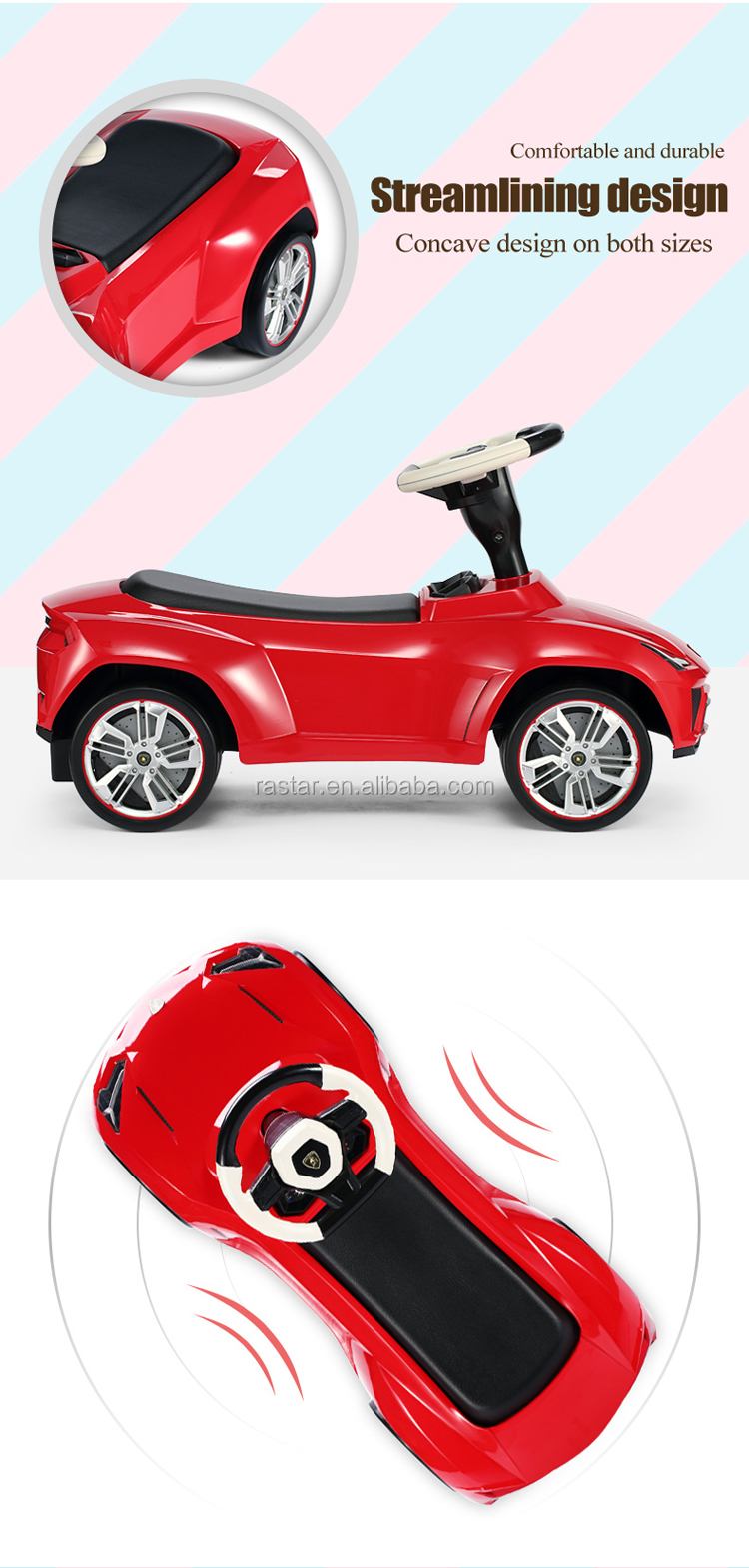 Rastar licensed plastic baby push bike for kids