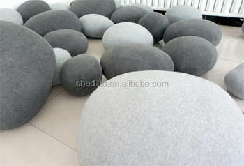 Indoor Floor Pebble Rock Cushion,home Decorative Throw Toys Living Stones  Cushion