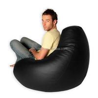 eps or shred foam filling bean bag gaming chairs , XXL adults outdoor BLACK bean bag sack