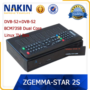 Genuine linux OS Zgemma star 2S twin tuner DVB-S2 tv box support usb wifi  sd card