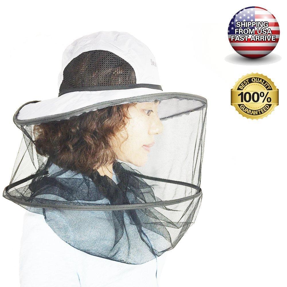 b6b77b3698184 Get Quotations · radarfn Mosquito Head Net Hat Wild Fishing Supplies Anti- Mosquito Bites Waterproof Sunless Hat
