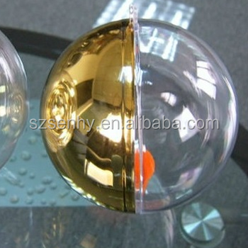 8cm clear plastic christmas balls with opening - Plastic Christmas Balls