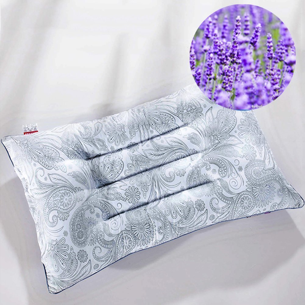 9f2be877cfc Get Quotations · 45 X 70cm Pillows for Sleeping with Herb Bag Breathable  Pillows for Neck Pain with Lavender