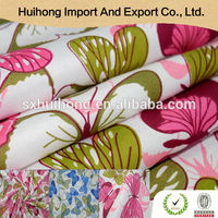 Shaoxing supplier Comfortable Cheap snowflake printed organza fabric