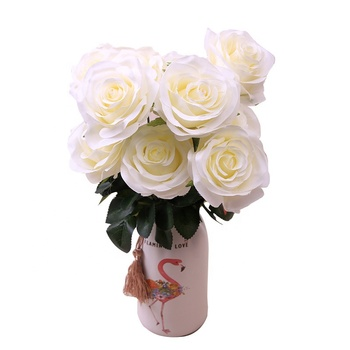 Wholesale 10 Heads Artificial Rose Flower Bouquet for Wedding