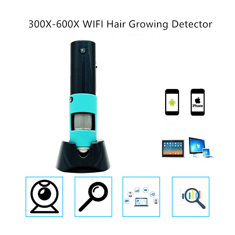 2MP portable  WIFI facial skin detector adapt for cell phone pad computer smart TV easy connected 300x 600x