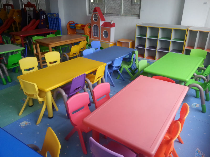 Modern Kindergarten Classroom Furniture ~ Ce approved preschool plastic children table and chair