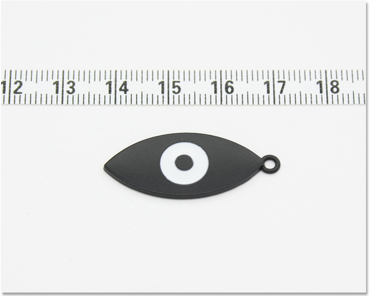 Exquisite black and white color small eye shape charm for bags