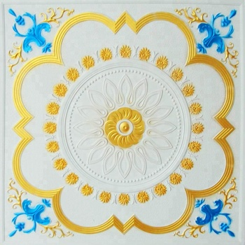 Pop Painted Colorful Gypsum Ceiling Flower Design Ceiling ...