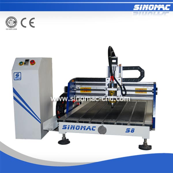 Sinomac hot sale cnc engraving metal machine S8-0609A square wooden chair